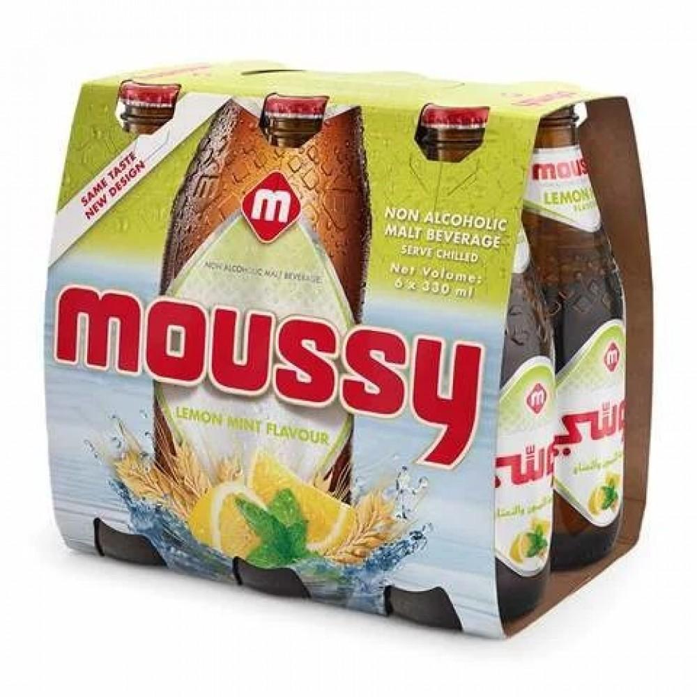 Moussy Lemon Mint Flavour Malt Beverage 330ml x 6