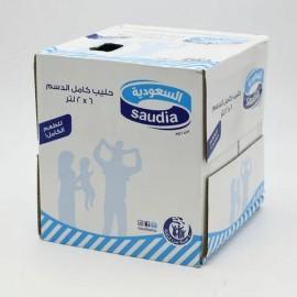 6 × Saudi Milk Full Fat 2L