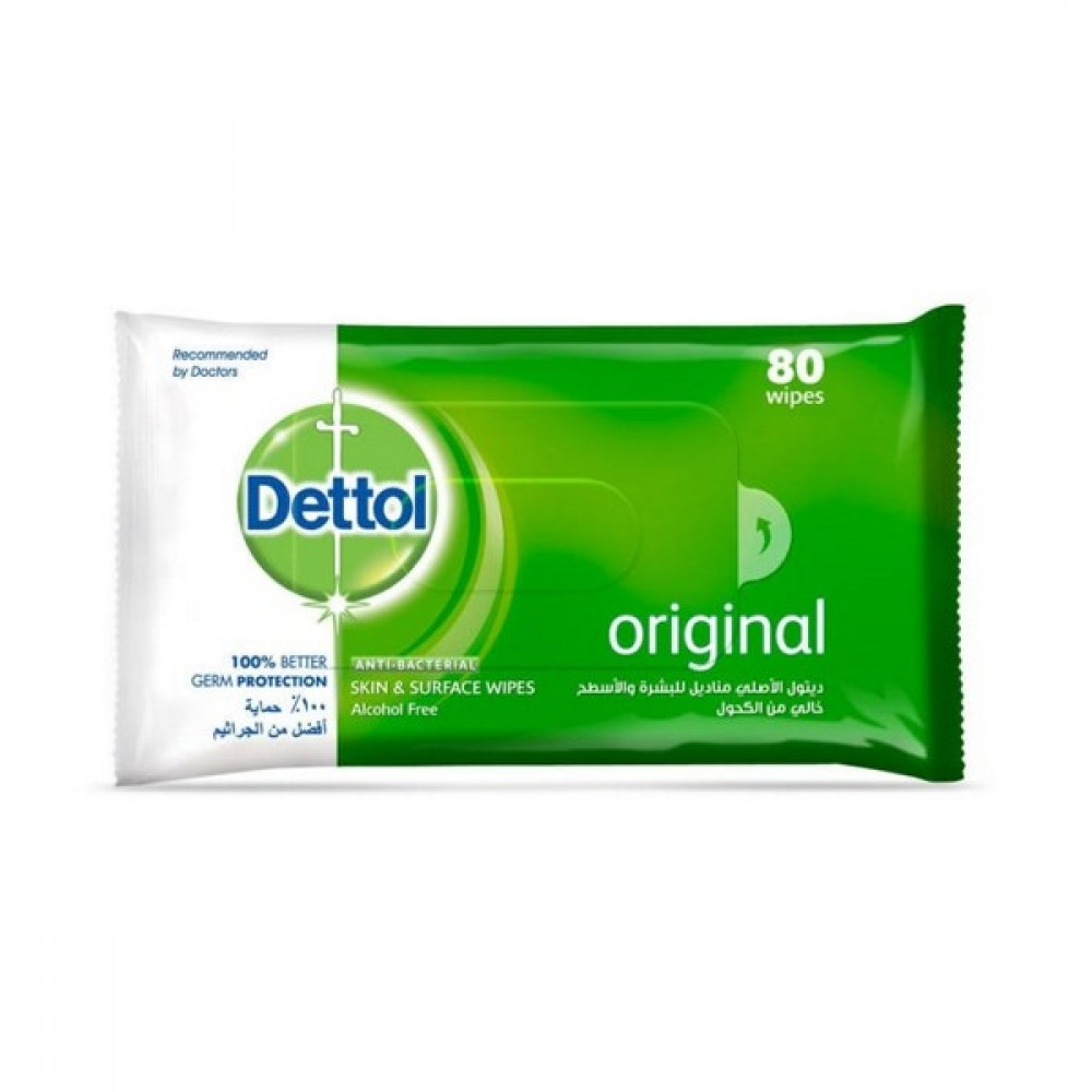 Dettol Antiseptic Wet Wipes 80 pcs