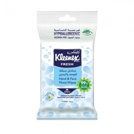 Kleneex Sanitizer Wet Wipes Sensitive Aloe 15 pcs