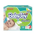 Baby Joy Size (3) Mega Box 136 Diapers