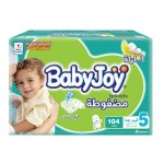 Baby Joy Size (5) Mega Box 104 Diapers