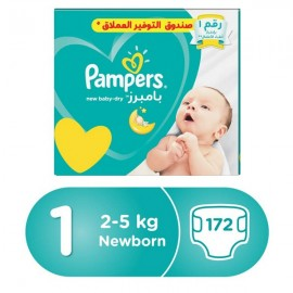 Pampers Size (1) Mega Box 172 Diapers