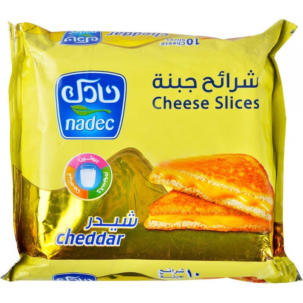 Nadec cheddar chees 10 slices 200g